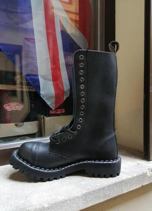 Высокие ботинки берцы сапоги steel стилы готы панки рок обувь ...