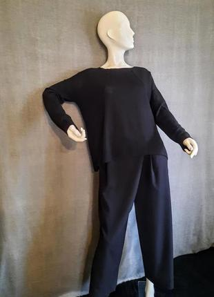 Черный шерстяной свитер оверсайз