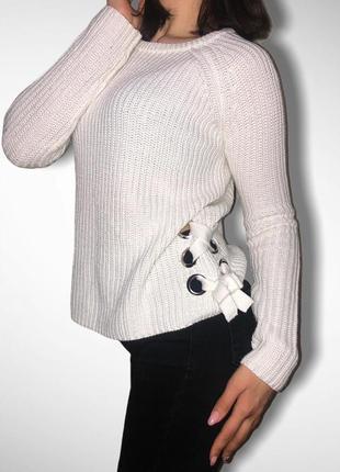 Вязанный свитер цвета молоко primark. размер xs/s