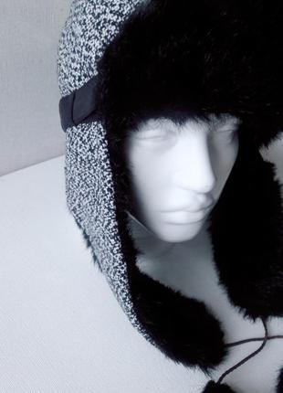 Женская шапка шапка ушанка на искусственном меху