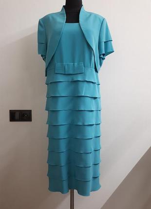Платье-костюм для полных женщин 56 размер