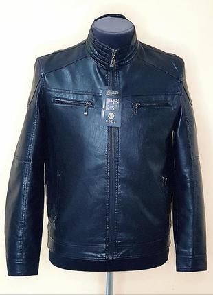 Куртка мужская кожезаменитель весенне осенняя