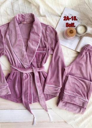 Халат женский, комплект домашней одежды