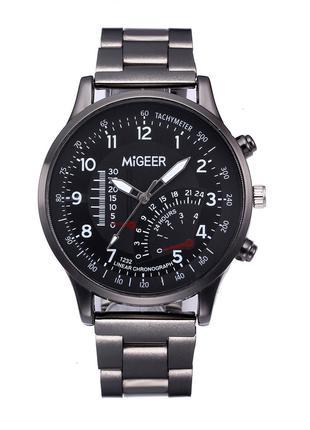 Мужские наручные часы с металлическим ремешком MIGEER