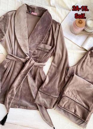 Комплект домашней одежды  халат женский