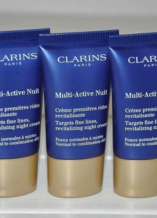 Ночной крем для лица  clarins multi-active nuit targets fine l...