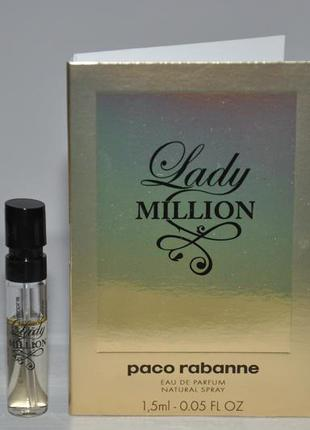 Paco rabanne lady million парфюмированная вода (пробник)