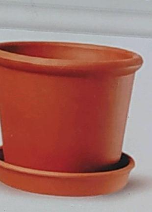 Красная глина. Цветочный горшок ирис  0,6 л.