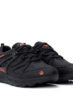 Мужские кожаные кроссовки  MERRELL vlbram Black NEW(40-45р)