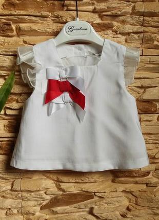 Нарядный топ/блуза gaialuna (италия) на 1-1,5 годика (размер 82)