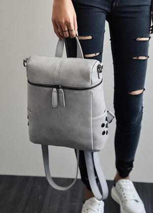 Модная женская сумка рюкзак трансформер