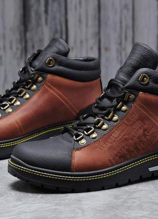 Ботинки зимние levis, 40-45 размер, кожа и мех натуральные, но...