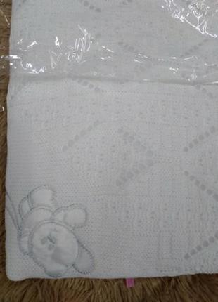 Качественная белая крыжма/плед для крещения. крыжма 70х100 см....