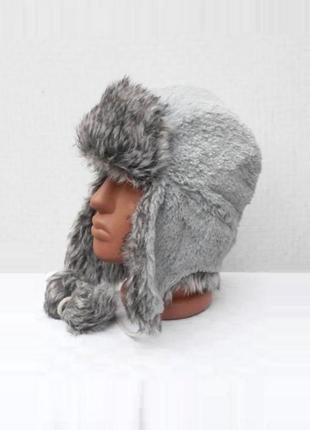 Теплая зимняя меховая шапка ушанка