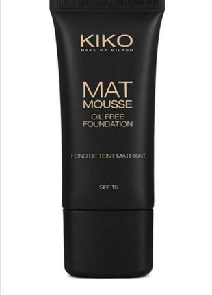Тональная основа kiko milano mat mousse foundation spf15