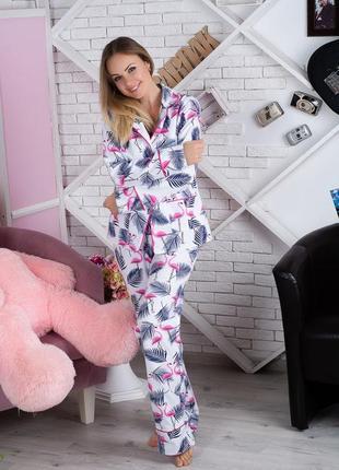 Пижама фланелевая фламинго (есть другие расцветки)