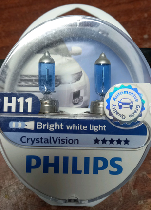Лампа H11 Philips Crystal vision.