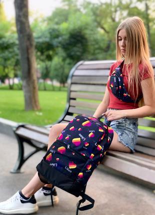 Рюкзак и Бананка Likee Мужская Женская Детская лайк синяя комплек
