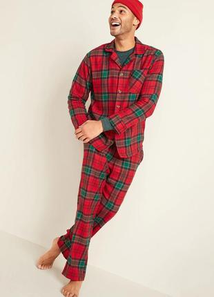 Мужская пижама фланелевая old navy штаны рубашка оригинал олд ...
