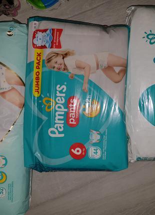 Pampers active baby Памперс подгузники трусики 3  4 5 6 Польша
