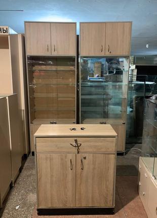 Распродажа торговой мебели, тумбы, витрины, шкафы!