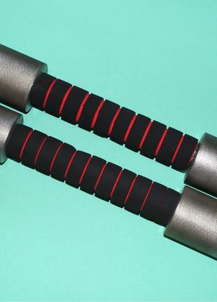 Комплект гантелей, металлические, 2 кг, мягкие ручки
