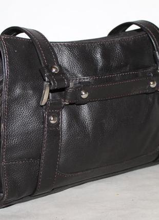 Debenhams практичная кожаная сумка на три отделения