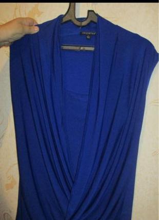 Блузка летняя синяя на 48 размер