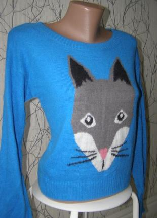 Divided by h&m свитер с ангорой 34- размер