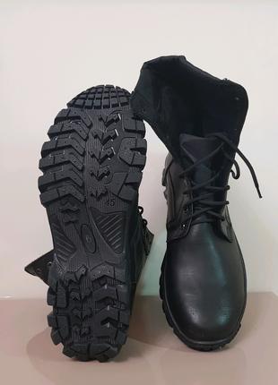 Кожаные ботинки сапоги на меху! Качественные ! Возможна примерка!