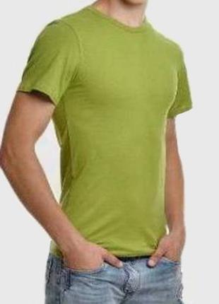 Футболка мужская однотонная, цвет оливковый