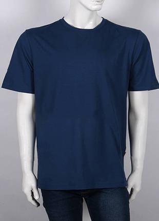 Футболка мужская однотонная, цвет темно синий