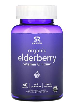Органическая бузина витамин C цинк 60 конф. Sports Research США