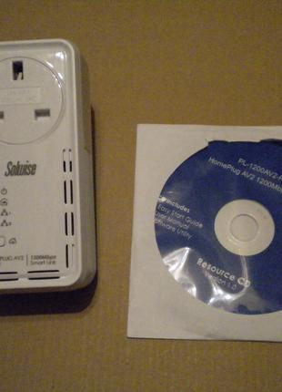 Мережевий сетевой адаптер Solwise HomePlug AV2 PL-1200AV2-Piggy