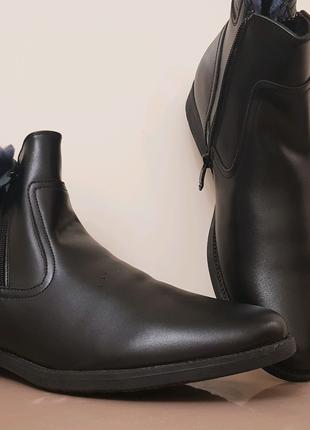 Новые Кожаные Ботинки Мужские с мехом! В наличии!