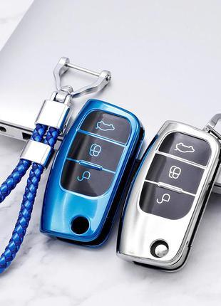 Стильные Чехол для ключа авто Ford Fiesta Focus 2 Ecosport Kuga