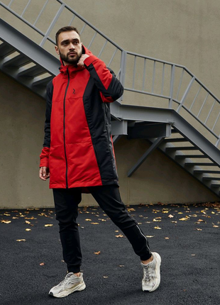 Куртка демисезонная мужская Пушка Огонь Horn черно-красная