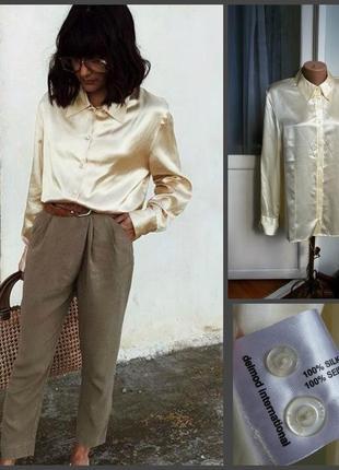 Шелковая рубашка delmod 100% шелк