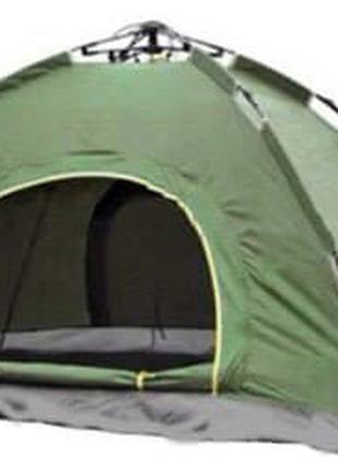 Палатка автоматическая 4-х местная⚡️Синий, камуфляж и зелёный