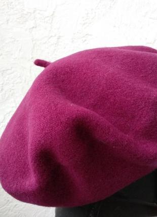 Теплый фетровый берет tonak. чехия. цвет фуксия