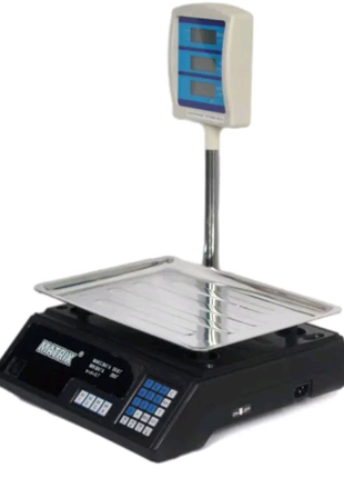 Весы электронные торговые до 50 кг с гусаком