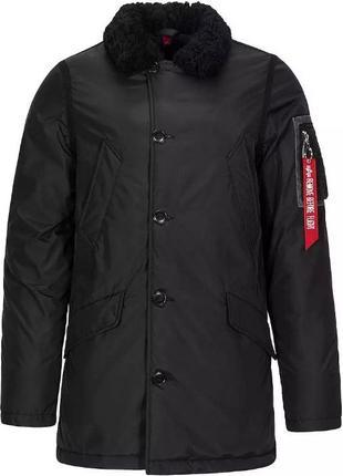 Теплая зимняя куртка аляска alpha industries B-9 оригинал черная