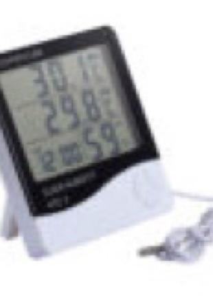 Термометр-гигрометр HTC-2 с часами и выносным датчиком температур