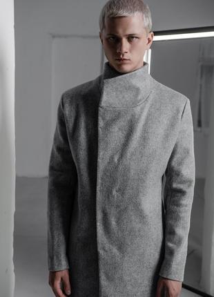 Пальто мужское Autumn серое от BLVCK LIMIT