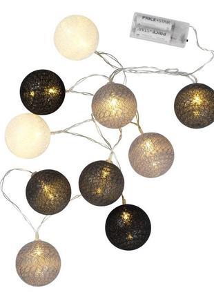 Гирлянда  шарики рождество