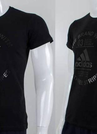 Футболка мужская, принт adidas, цвет черный