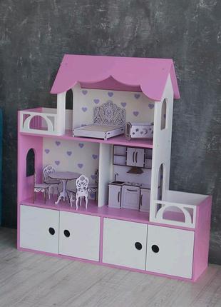 Кукольный дом Девочки в восторге Без мебели