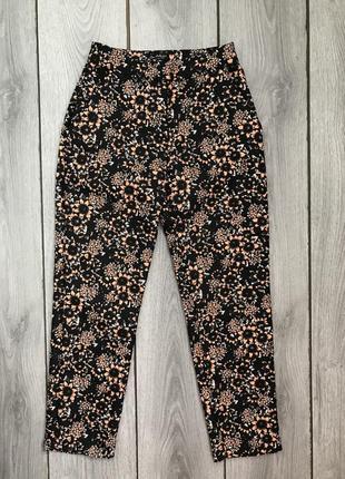 🔥акция 3=5🔥missguided штаны в принт цветов фактурные xs 34 6