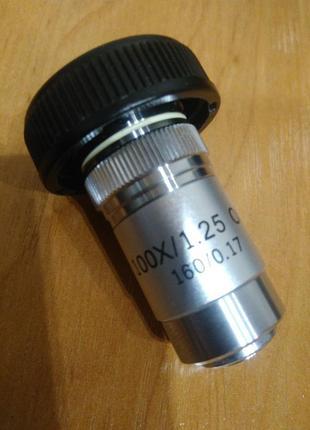 Объектив для микроскопов 100x (ахроматический) НОВЫЙ