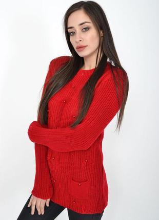Теплый женский свитер,акриловый свитер